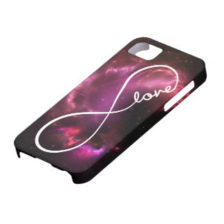 infinity love - pink nebula iPhone 5 cover