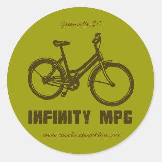 INFINITY MPG brown decal, www.carolinatriathlon.co Classic Round Sticker