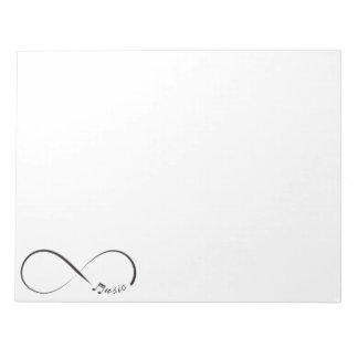 Infinity  music  symbol notepad