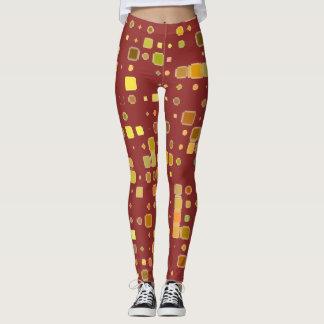Infinity Pattern Design Maroon Women Yoga Legging
