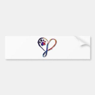 Infinity Paw Bumper Sticker