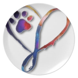 Infinity Paw Plate