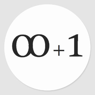 infinity plus one classic round sticker