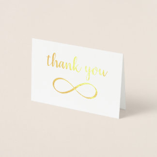 Infinity Symbol Calligraphy Thank You Foil Card