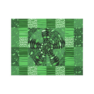 INFINITY Symbol Green Colorful Cheerful GIFTS FUN Canvas Print