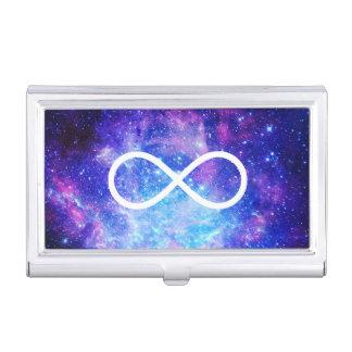 Infinity symbol nebula business card holder