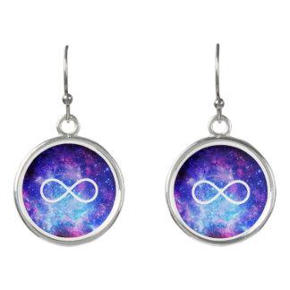 Infinity symbol nebula earrings
