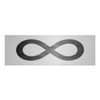 Infinity Symbol On Brushed Metal Texture Photo Art