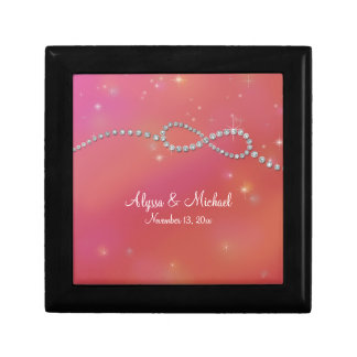 Infinity Symbol Sign Infinite Love Twinkling Light Small Square Gift Box