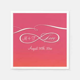 Infinity Symbol Sign Infinite Love Wedding Ombre Disposable Serviette