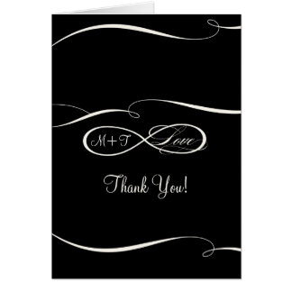 Infinity Symbol Sign Infinite Love Wedding Thanks Card
