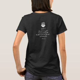 INFJ Taking Notes Women's Black T (Design on Back) T-Shirt