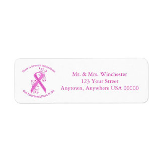 Inflammatory Breast Cancer Awareness Return Address Label