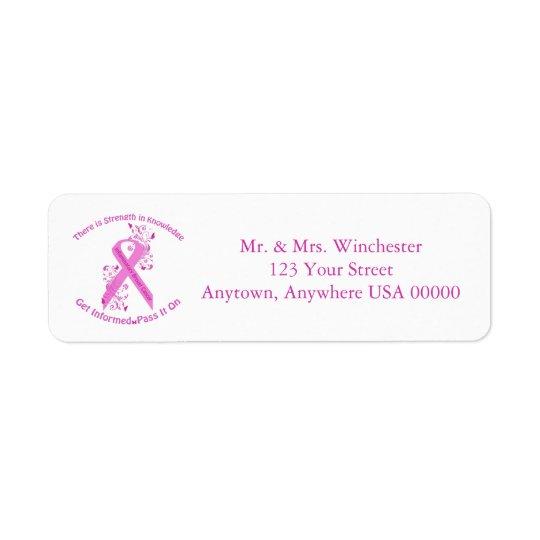 Inflammatory Breast Cancer Awareness Return Address Label