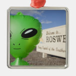 Inflatable alien with Welcome to Roswell sign in Christmas Ornament