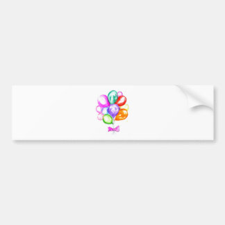 Inflatable Colorful Balloons Bumper Sticker