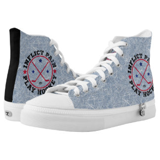 Inflict Pain Play Hockey High Tops Sneakers