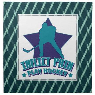 Inflict Pain, Play Hockey Serviette Napkins