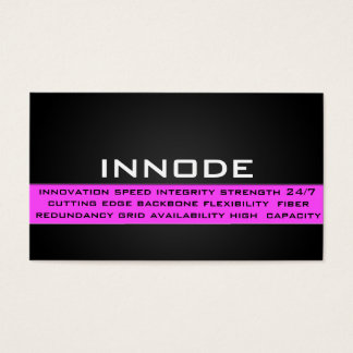 Info Box in Pink Business Card