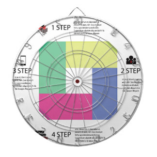 info graphic square dartboard