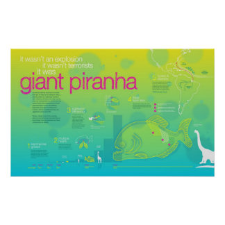Infographic Giant Piranha Print