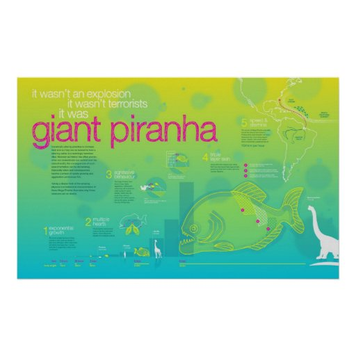 Infographic: Giant Piranha Print
