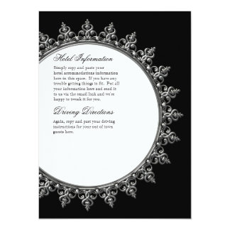 Information Insert - Classic Baroque Swirl Circle Card