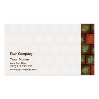 Information puzzle pack of standard business cards