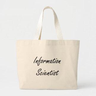 Information Scientist Artistic Job Design Jumbo Tote Bag