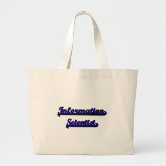 Information Scientist Classic Job Design Jumbo Tote Bag