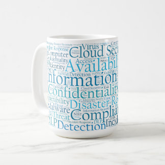 Information Security Word Cloud Mug