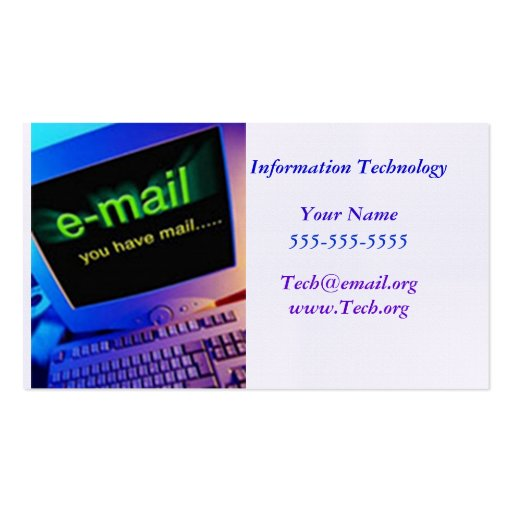 Information Technology Business Card