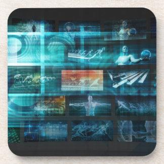 Information Technology or IT Infotech as a Art Coaster