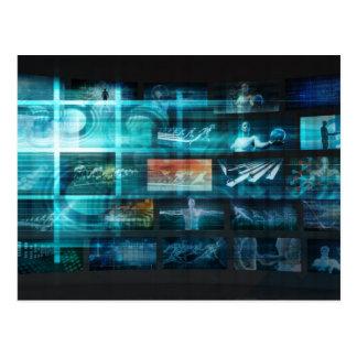 Information Technology or IT Infotech as a Art Postcard
