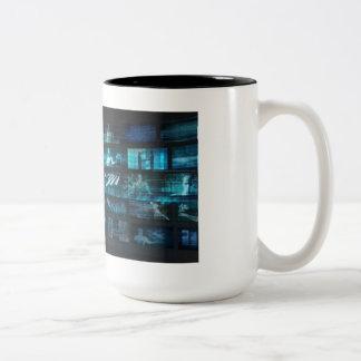 Information Technology or IT Infotech as a Art Two-Tone Coffee Mug