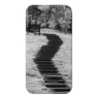 Infra red of trees buildings and trails in Las iPhone 4 Case