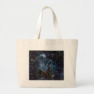 Infrared Eagle Nebula Pillars of Creation Large Tote Bag