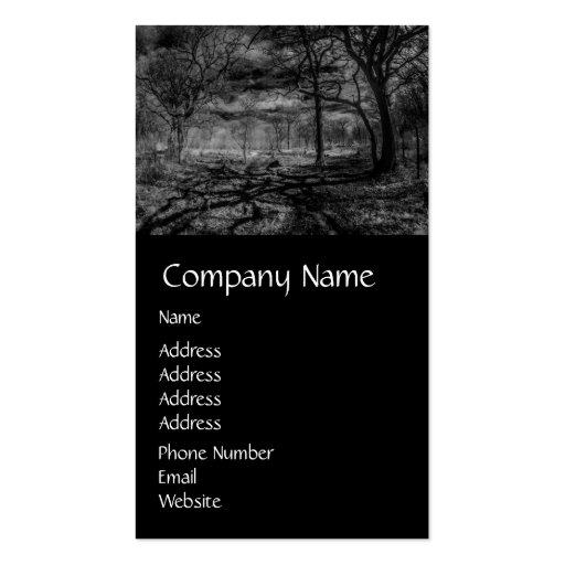 Infrared landscape shadows in the woods business card