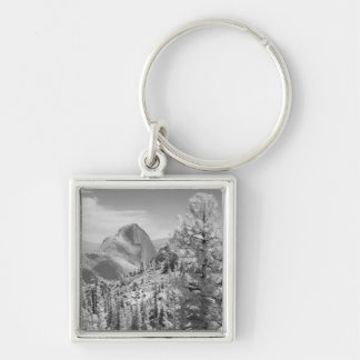 Infrared photo in East side of Yosemite National 2 Silver-Colored Square Key Ring