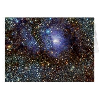 Infrared View Lagoon Nebula Messier 8 M8 NGC 6523 Card