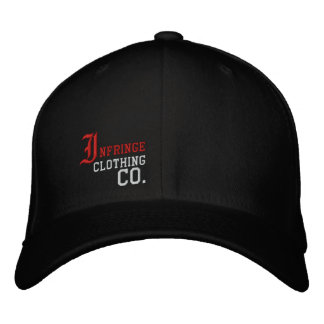 Infringe Design Embroidered Flex-Fit Hat Baseball Cap