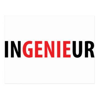 Ingenieur Genie icon Postcard