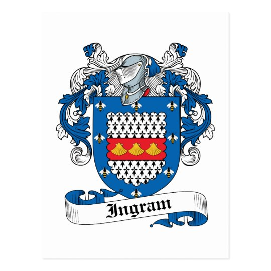 Ingram Family Crest Postcard