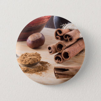 Ingredients for cooking in the kitchen 6 cm round badge