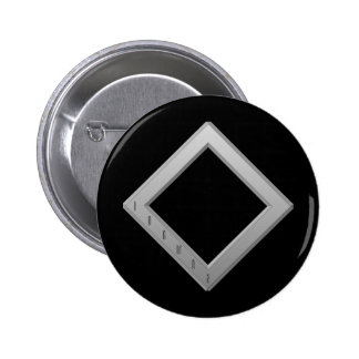 Ingwaz Rune grey 6 Cm Round Badge