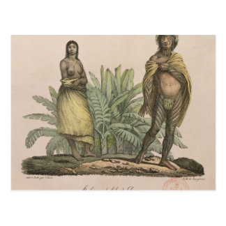 Inhabitants of Easter Island Postcard