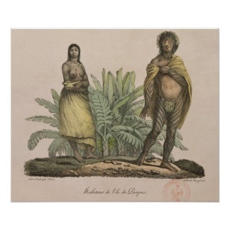 Inhabitants of Easter Island Poster