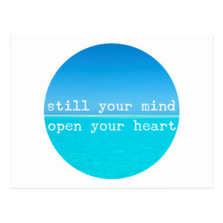 Inhale Exhale Relaxing Meditation Quote Postcard