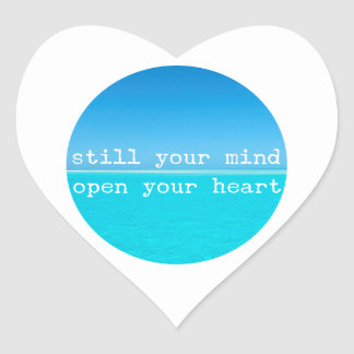 Inhale Exhale Relaxing Meditational Quote Heart Sticker