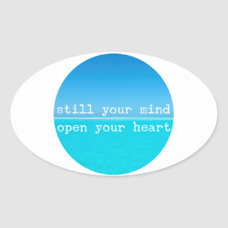Inhale Exhale Relaxing Meditational Quote Oval Sticker